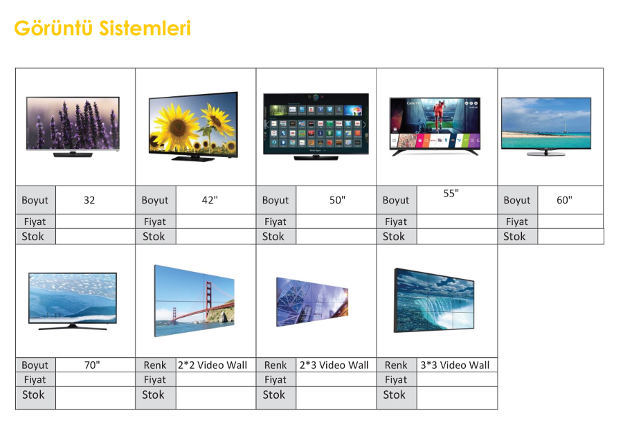 kiralık video wall led tv led panel
