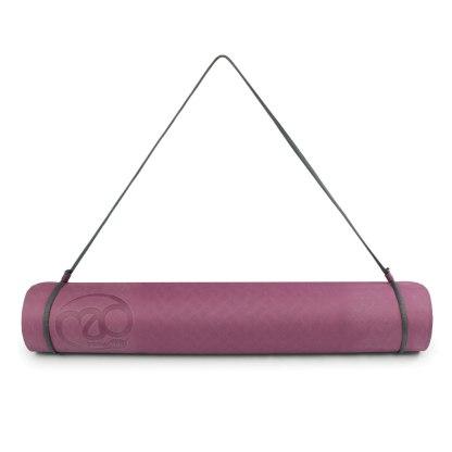 Tapis de Yoga Evolution Yoga Mat 4mm Yoga-Mad cordon aubergine