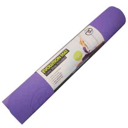 Tapis de Yoga Evolution Yoga Mat Yoga-Mad violet enroulé