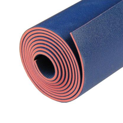 Tapis de Yoga SureGrip 4mm Yoga-Mad blue enroulé