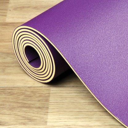 Tapis de Yoga SureGrip 4mm Yoga-Mad purple détail