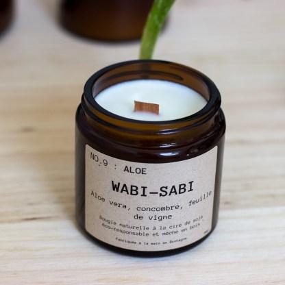 Bougie parfumée N°09 Aloe 90g/25h Wabi-Sabi
