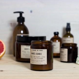 Bougie parfumée N°04 Poudre de rose 150g/40h Wabi-Sabi