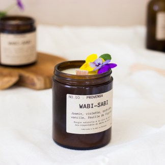 Bougie parfumée N°10 Provensa 150g/40h Wabi-Sabi