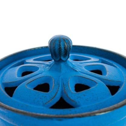 Brûle-parfums Bol bleu Iwachu détail