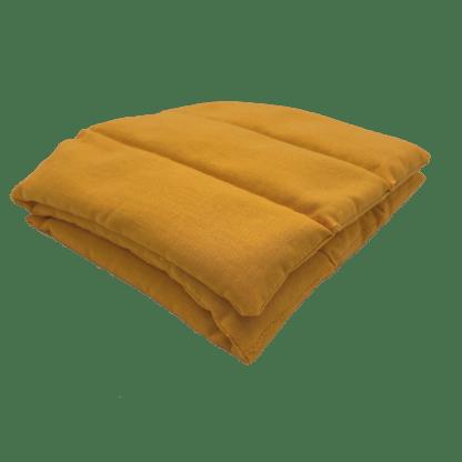 Bouillotte à graines de lin unie Orange