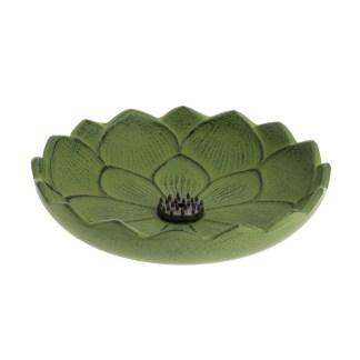 Brûle-parfums Fleur de lotus vert