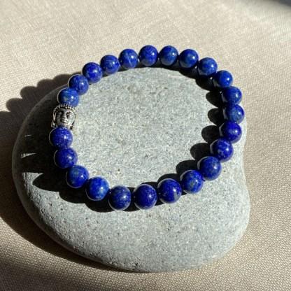 Bracelet en lapis lazuli et argenté