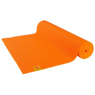 Tapis de yoga Non-Toxique Chin Mudra orange safran