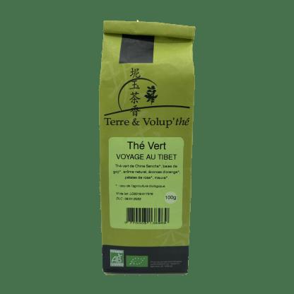 Thé vert bio Voyage au tibet Terre & Volup'thé