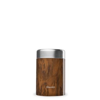 Boîte repas et soupe isotherme Wood 340ml Qwetch