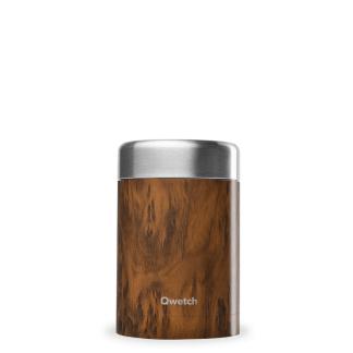 Boîte repas et soupe isotherme Wood 650ml Qwetch