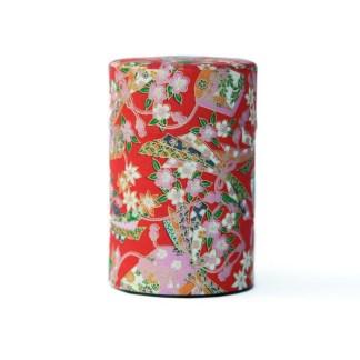 Boîte à thé Furoshiki rouge 75g
