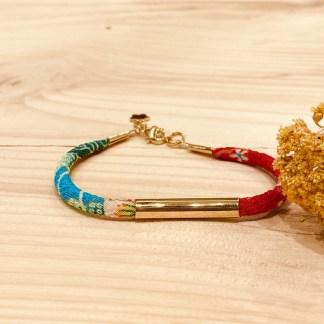 Bracelet japonais en tissu de Kimono N°04 Atelier Vivienne