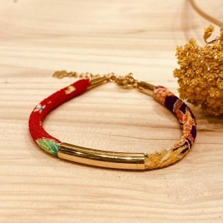 Bracelet japonais en tissu de Kimono N°10 Atelier Vivienne