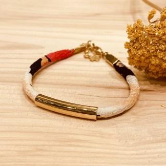 Bracelet japonais en tissu de Kimono N°12 Atelier Vivienne