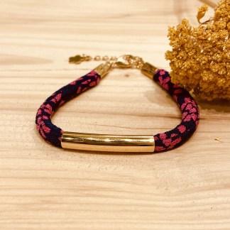 Bracelet japonais en tissu de Kimono N°15 Atelier Vivienne