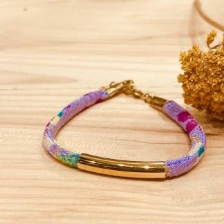 Bracelet japonais en tissu de Kimono N°16 Atelier Vivienne
