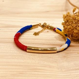 Bracelet japonais en tissu de Kimono N°17 Atelier Vivienne
