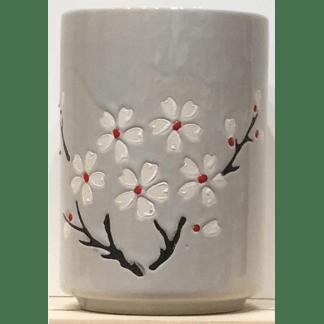 Tasse en porcelaine Fleurs de cerisier gris