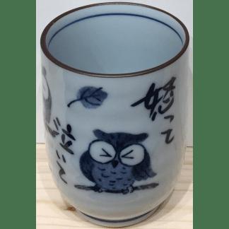 Tasse en porcelaine Hibou