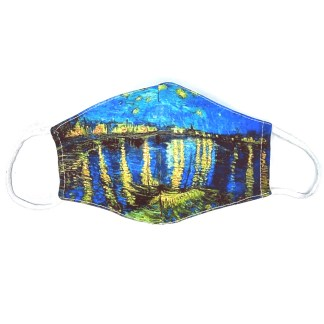 Masque en tissu Nuit étoilée 1888 de van Gogh