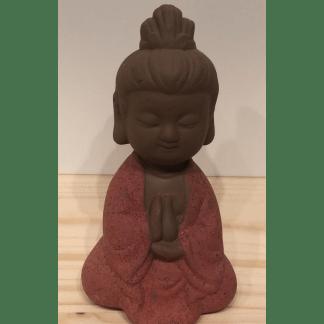 Statuette Guanyin rouge