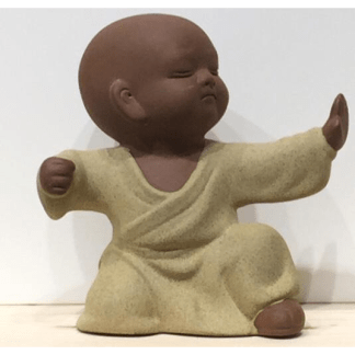 Statuette Moine Shaolin jaune