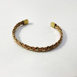 Bracelet de cuivre trois métaux tressés indien