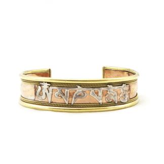"""Bracelet en cuivre avec le mantra """"Om Mani Padme Hum"""""""