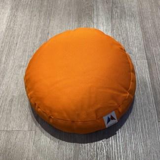 Petit coussin de méditation plat orange Stelvoren