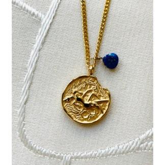 Collier Lien astral Vierge x Lapis-lazuli