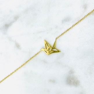 Bracelet Grue doré 7bis