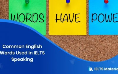Common English Words Used in IELTS Speaking