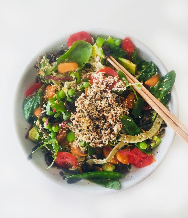 Superfood veg high protein salad