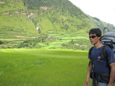 Siddi Mama - enjoying the trek into Manaslu Basecamp