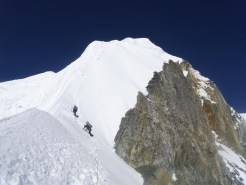 Climbing in the SW ridge