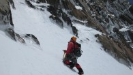 Scoping out a ice gulley on Mt Mabel