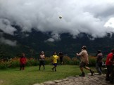 Andrew Chilling with the locals - volleyball anybody?