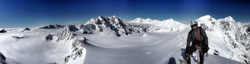 Panoramic from the Summit of Alymer