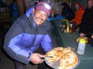 Thanks for the apple pie Dev - Lhakpa always ha s a smile on his face