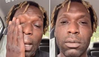 Два скриншота с грустным лицом мужчины