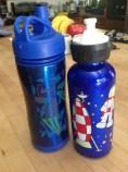 Water bottles that leak or don't work easily. DONATE.