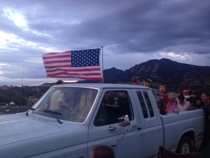 Al brought is F150 decked out with an American flag