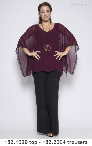 top and trouser shiffon plus size
