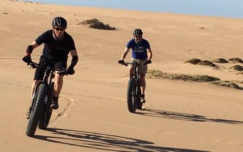 Eugene Biking in namib desert