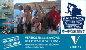 VERTICS.Sleeves @ Kalymnos Climbing Festival 2017 | Griechenland