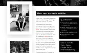Antonella loves pilates website