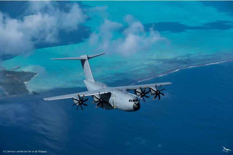 сброс грузов в воздухе с транспортных самолетов Airbus A400M