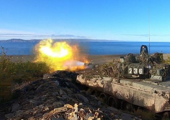 Мотострелки СФ уничтожили десант условного противника